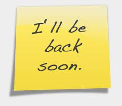 De retour le 8 novembre